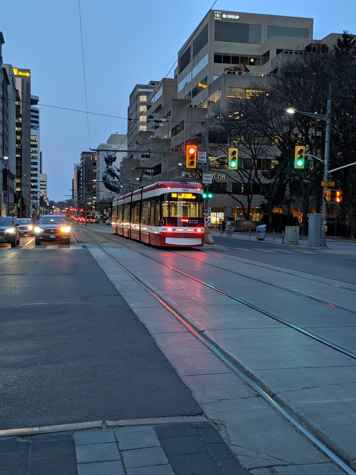 Our favorite ride in Toronto Downtown area, The Streetcar..
