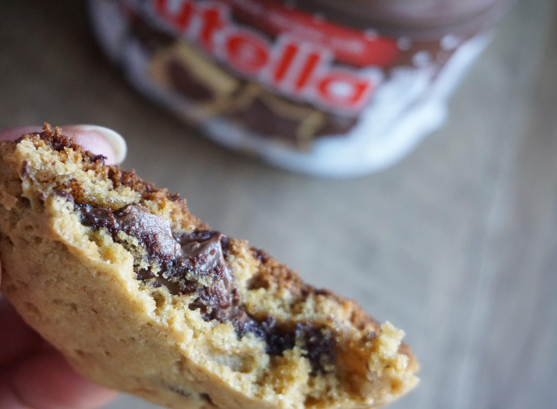 Nutella Stuffed Whole Wheat Chocolate Chip Cookies
