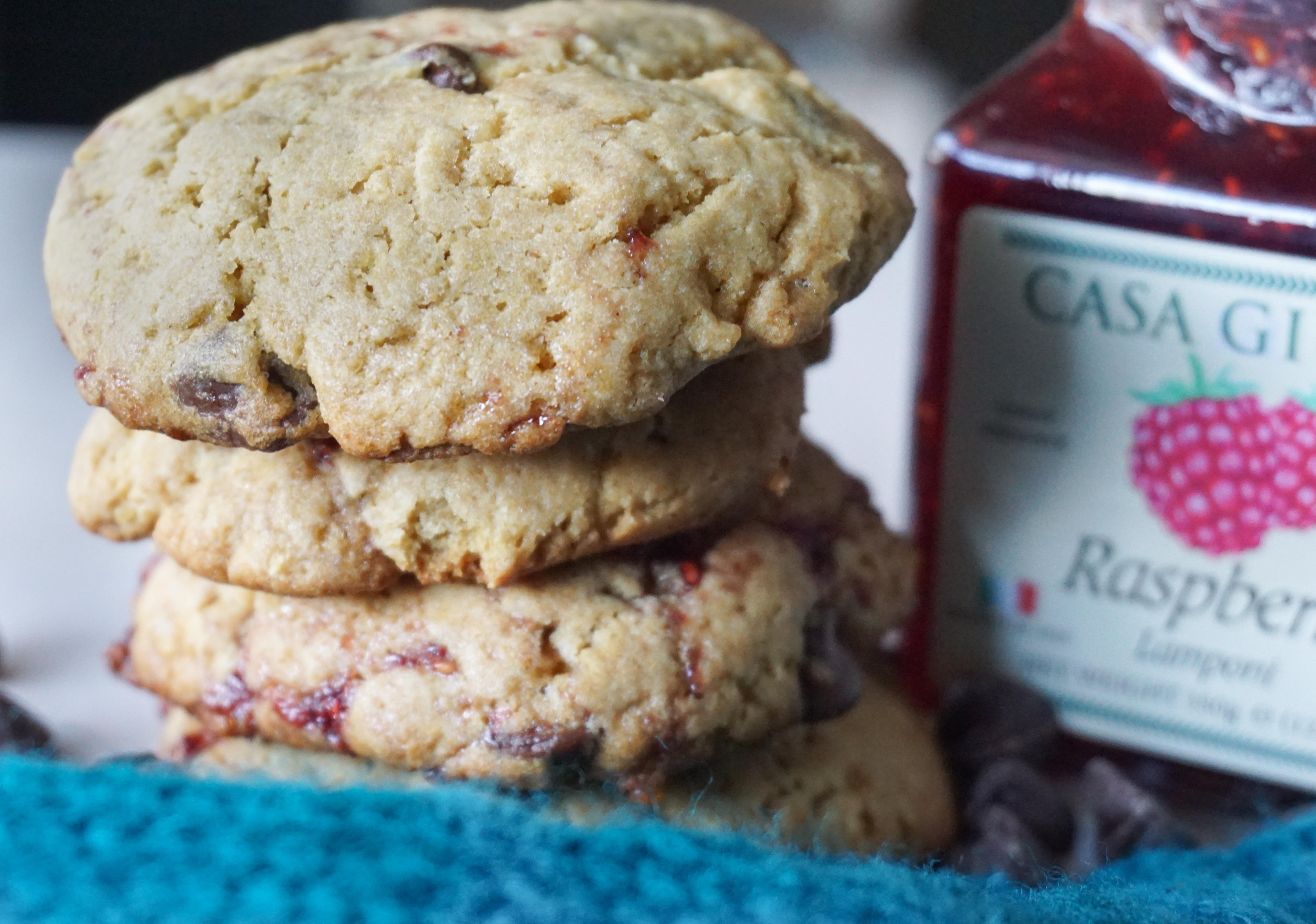 Raspberry Chocolate Chip Whole Wheat Cookies
