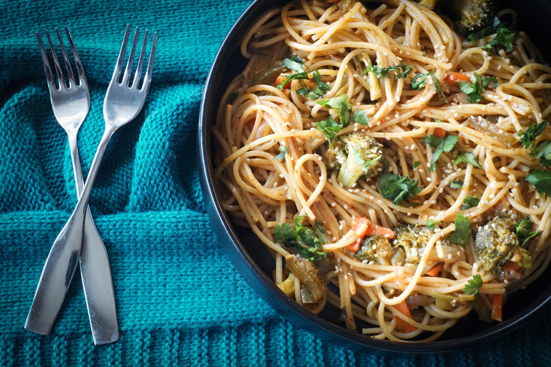 Thai Red Curry Noodles Instant Pot