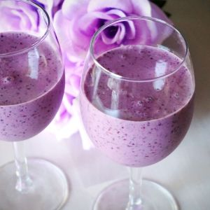berry smoothie in glasses