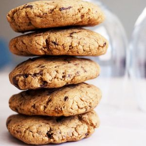 stacked dried plum cookies