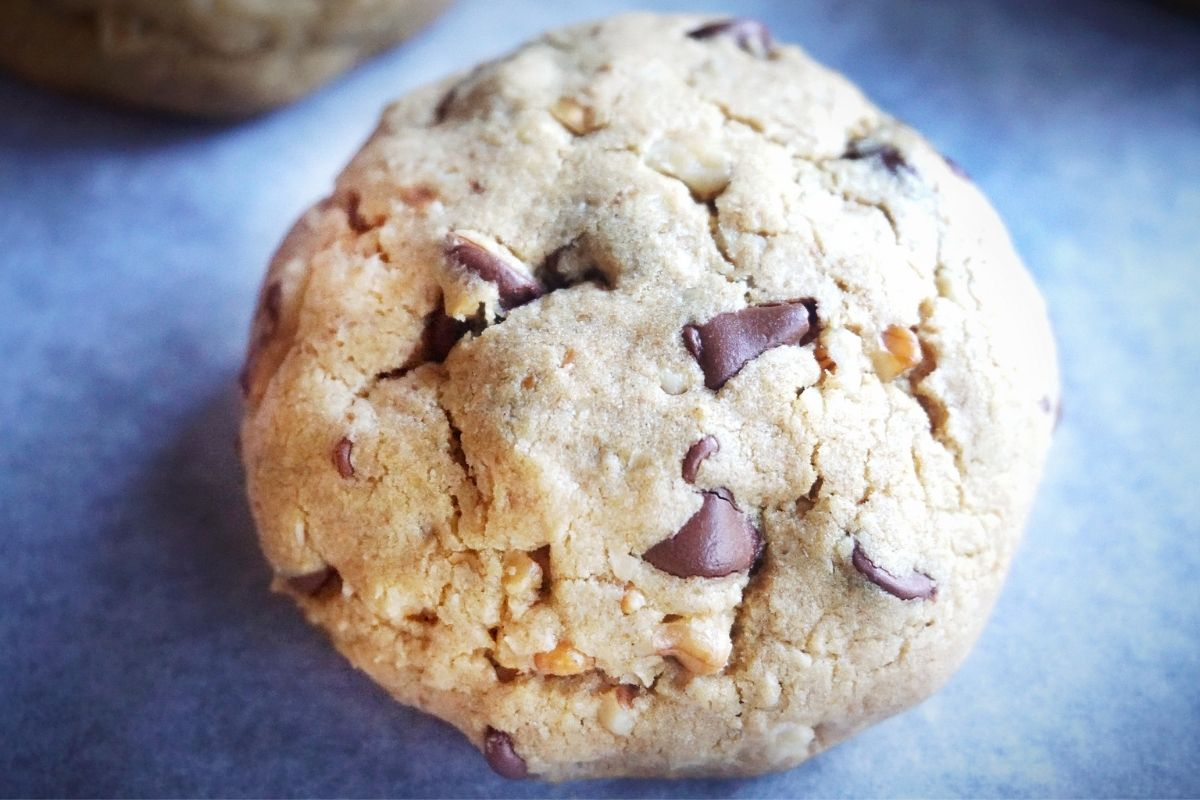Cookie on parchment paper