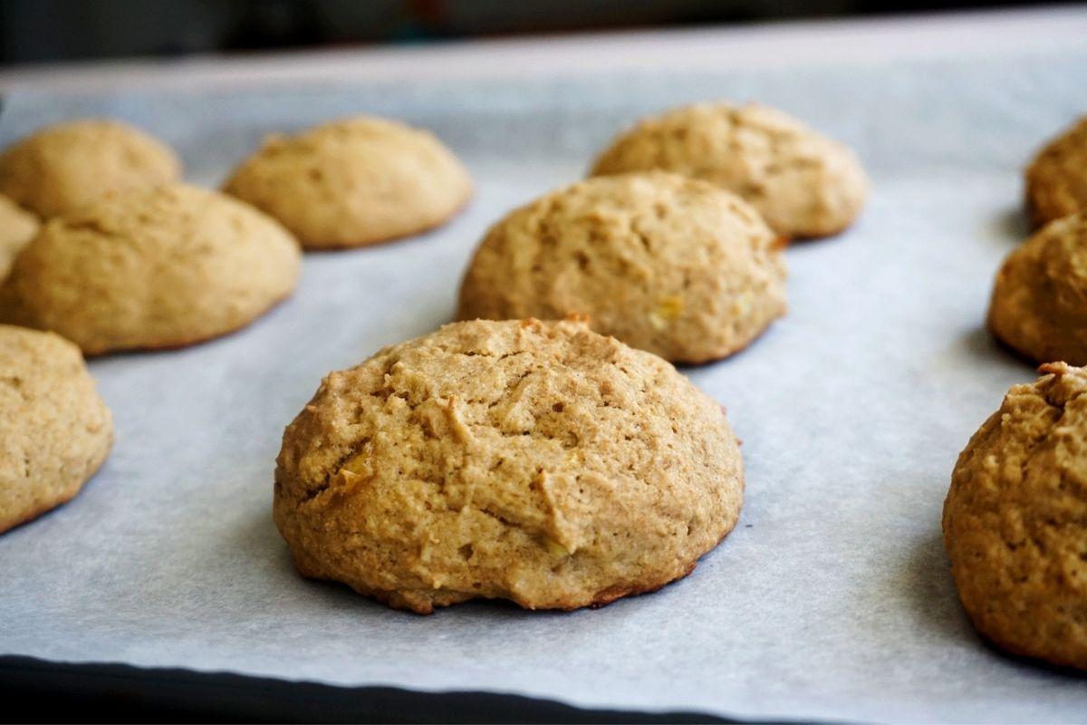 baked banana cookies
