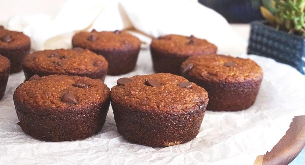 pumpkin muffins on tray