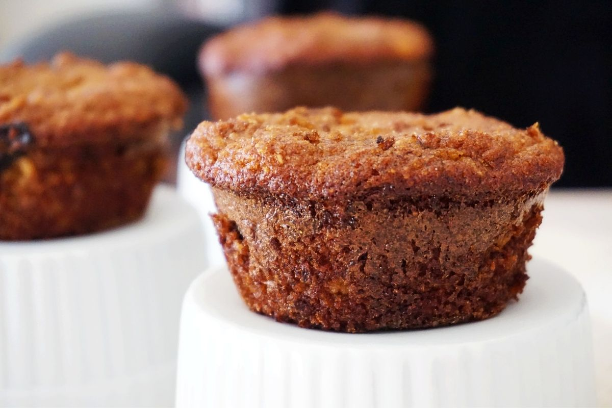 muffins on inverted cups