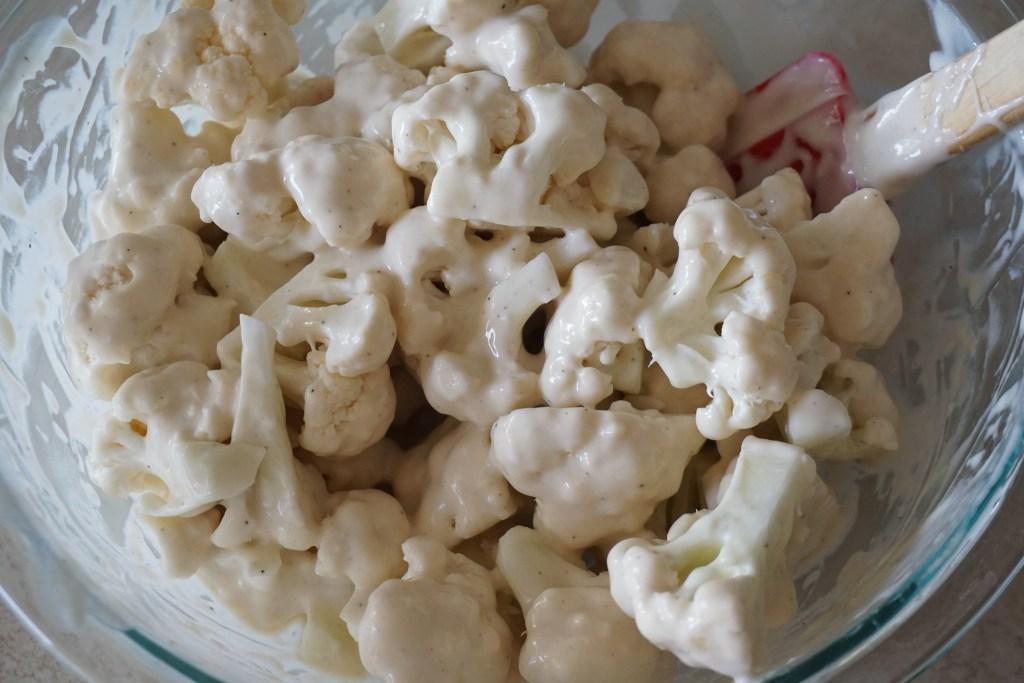 battered cauliflower florets