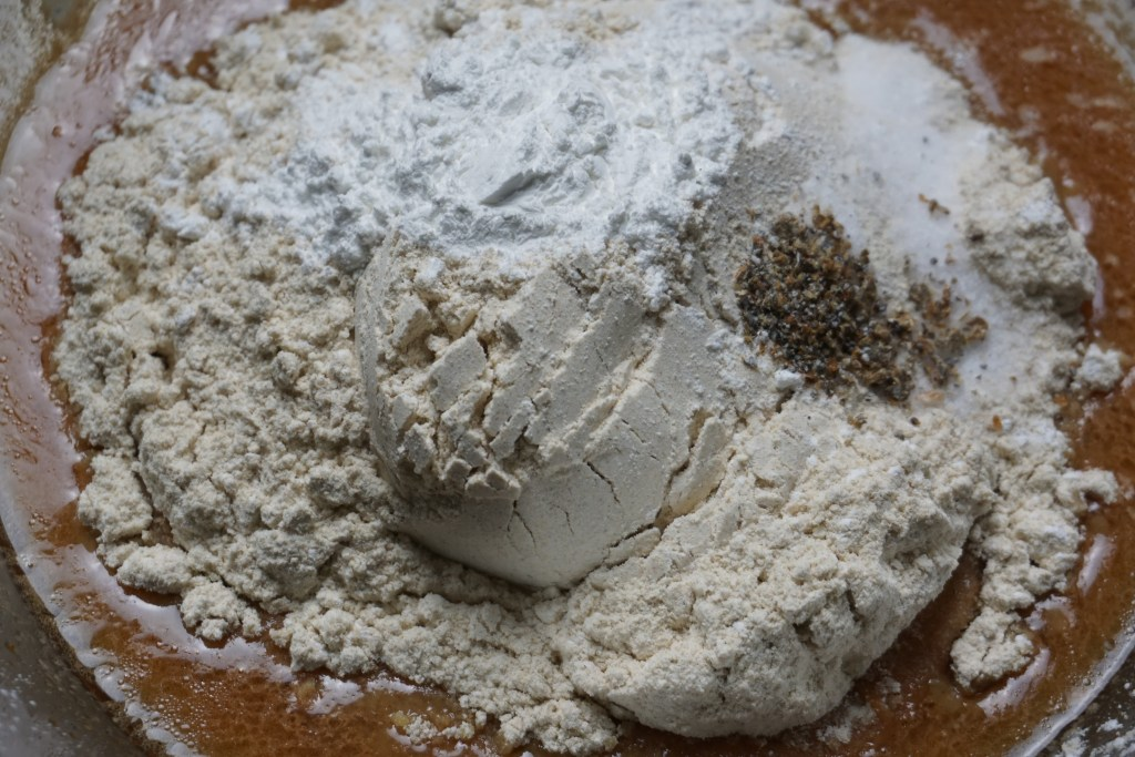dry ingredients added