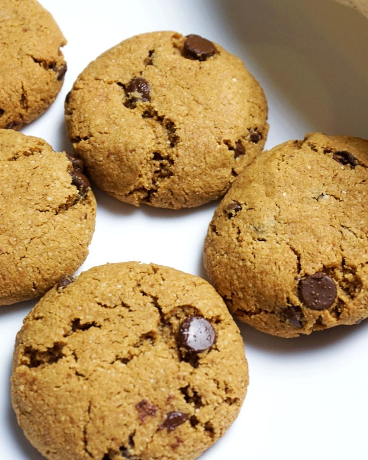 almond flour cookies on a plate