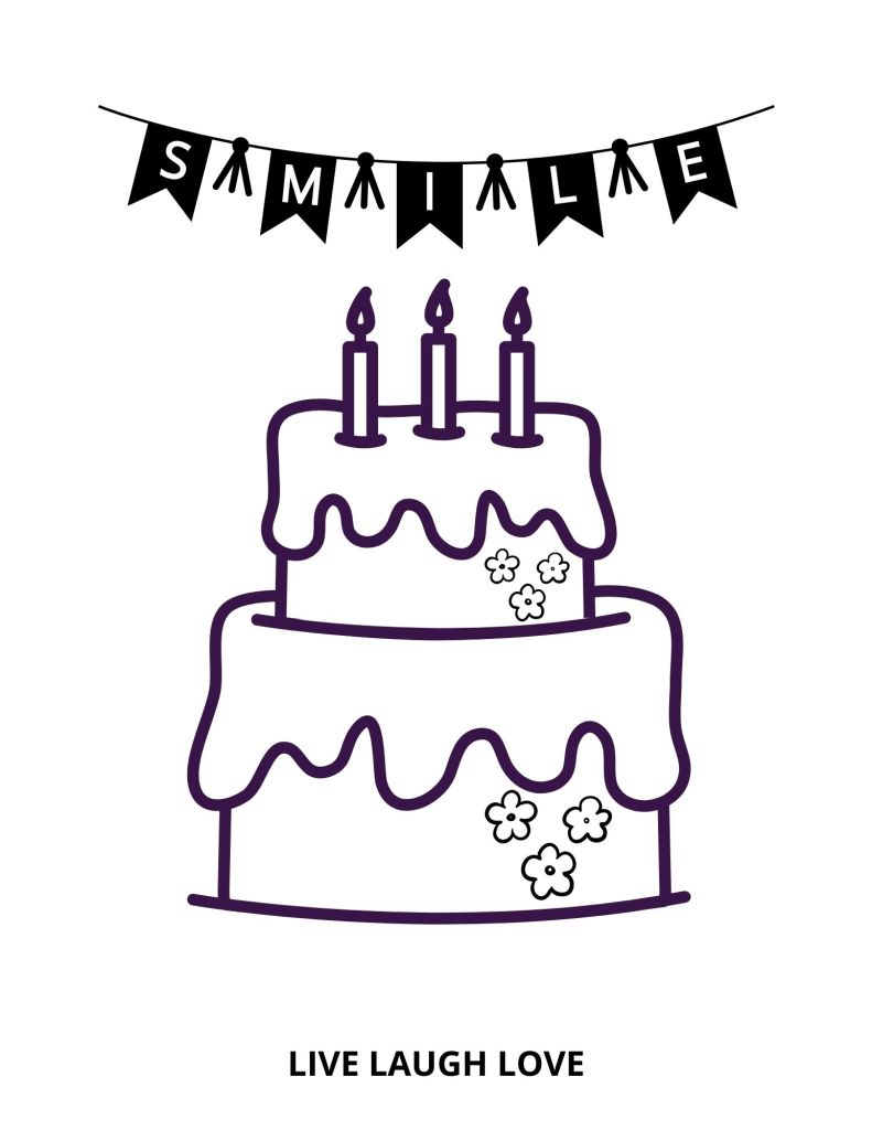 cake picture with candles and banner