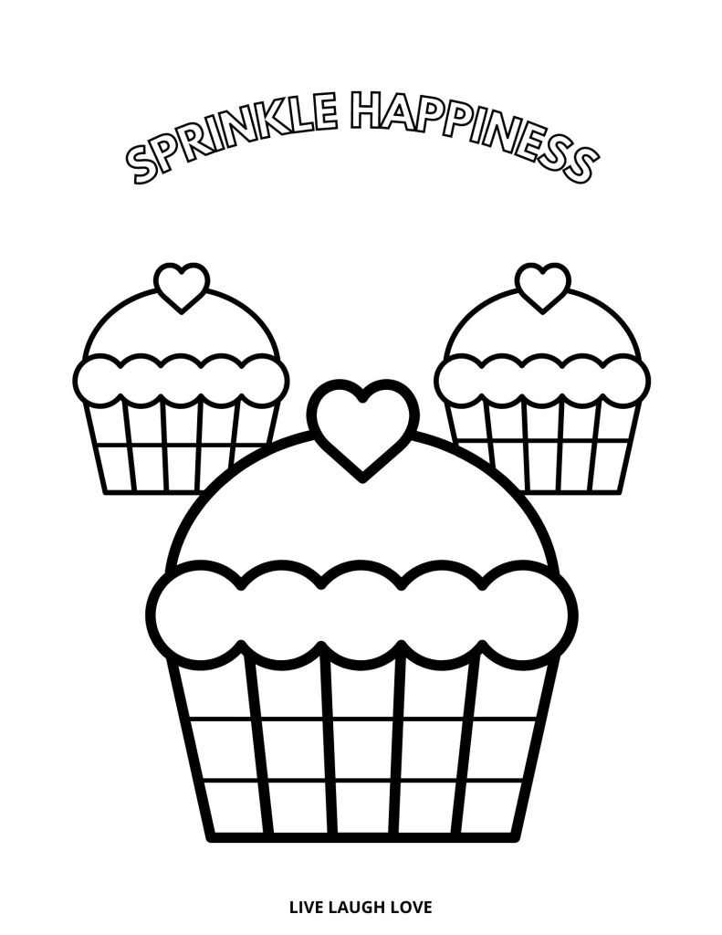 three cupcakes picture