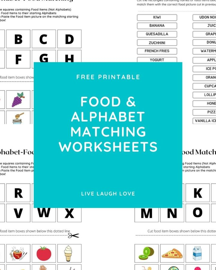 food and alphabet match pic