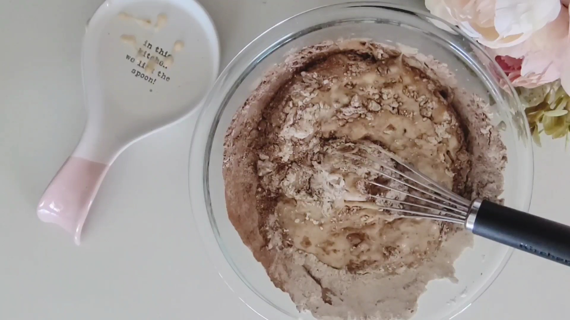 partially mixed muffins batter