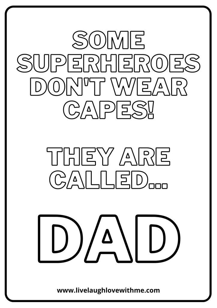 dad quote coloring sheet