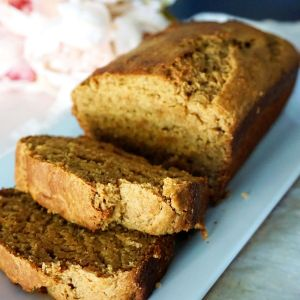 banana bread with slices
