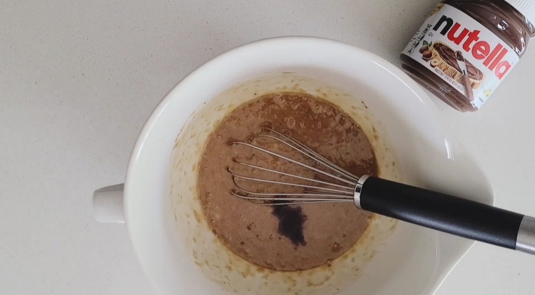 Vanilla extract added to the mixture.